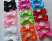 Pick 18 Bitty Bows--29 Color Choices