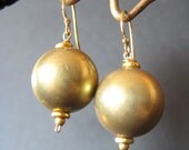 14k gold filled Gold Hollow Sphere Earrings