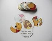 Circle Paper Confetti Winnie The Pooh Multi Colored Circles