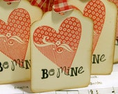 Valentines Day Gift Tags,Vintage Looking Be Mine Holiday Gift tags