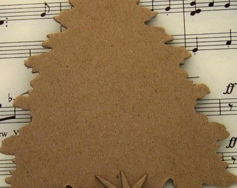 Die Cut Scrapbooking Christmas Tree, Base and Star