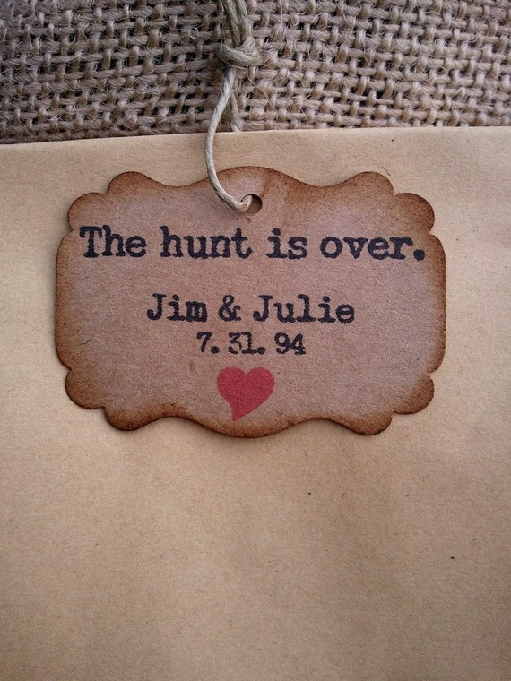 50 Personalized Wedding Favor tags rustic wedding country wedding