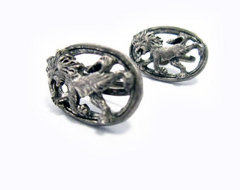 Stylish Vintage Lion Earrings