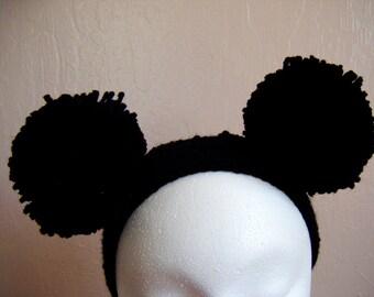Black Puff Ball Headband