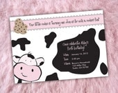 """P.I.Y (print-it-yourself) """"Milk & Cookies"""" Birthday Invitation, Party Circles and Thank You Cards"""