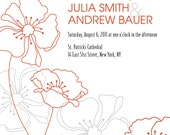 PRETTY POPPY Wedding Save the Date/Invitation/Response Card/Reception Card/Menu/Table Numbers/Thank You Card - You Print