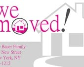 WE MOVED Custom Moving Announcement/Change of Address Postcard/House Warming/Mailer - DIY You Print