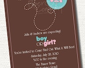 WHAT WILL BEE Baby Gender Reveal Party Invitation Printable diy Customizable