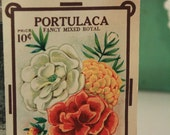 Vintage 1910's NOS Portulaca (Moss Rose) Seed Packet.