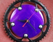 Purple Shimmer Bicycle Clock