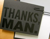 The Manly Thank You Card - Six Card Bundle - Envelopes Included