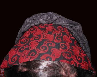 Sale on Red Heart Veil Renaissance Inspired Fascinator
