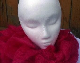 Knit Scarf Fuschia Scarf Mohair Silk Colorado
