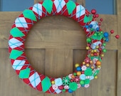 How the Grinch Stole Christmas Yarn Wreath