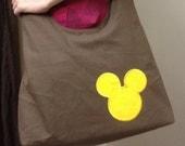 Special Order - La'Shena - Black Crossbody Shoulder Bag - Mickey Mouse Applique