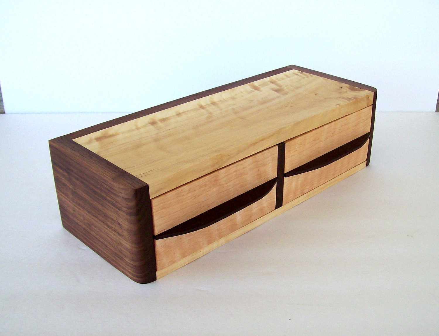 Very Impressive portraiture of wood jewelry box two drawer with wenge pulls black by TKfindz with #91673A color and 1500x1149 pixels