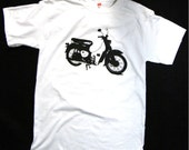 Scooter Tshirt - Honda cub vintage screenprint shirt - Available sizes( small, medium, large)