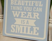 """12""""x12"""" Beautiful Smile Wooden Sign"""