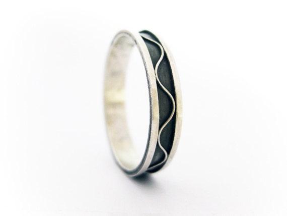 Wedding band ring in italian filigree