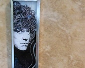 Pen and Ink - Robert Plant - Original signed art pendant necklace
