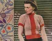 Stitchcraft May 1937, King George's Coronation - Vintage Knitting Pattern booklet PDF