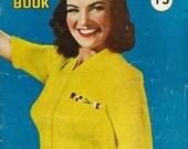 Hollywood Knitting Book, 11 designs c.1942 - Vintage Knitting Pattern booklet PDF
