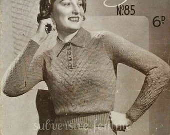 1930s Patons Speciality Knitting, 9 designs c.1934 - Vintage Knitting Pattern booklet PDF