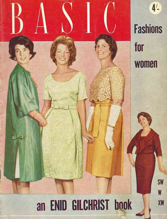 Enid Gilchrist, Basic Fashions for Women, c. 1950s/1960s - Sewing Pattern Drafting Booklet PDF