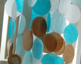 Tissue Paper Garland, Party Garland, Birthday Garland, Wedding Garland, Photo Backdrop, Baby Shower Garland - Baby Boy