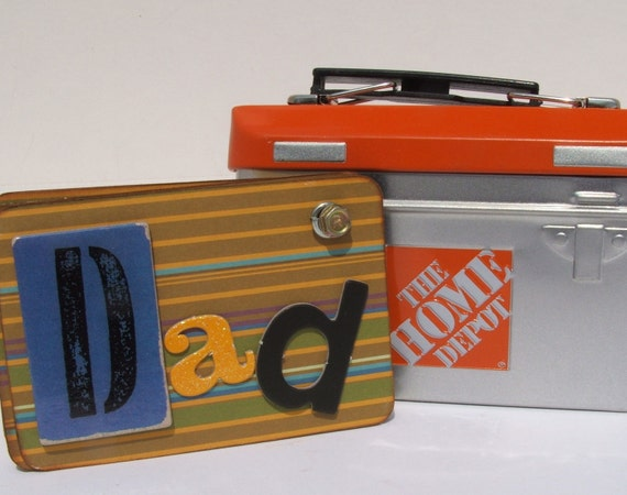 Birthday Gift for Dad, Mini Tool Box  Scrapbook, Gift Card Holder