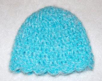 Soft Blue Toddler Hat