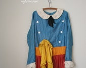 vintage costume CLOWN circus halloween RAGGEDY ANDY retro 50's . L
