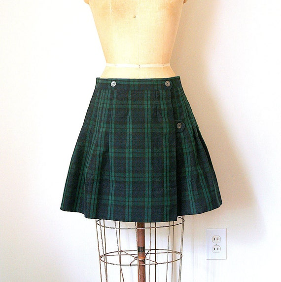 plaid mini skirt SCHOOL GIRL catholic uniform KILT japan