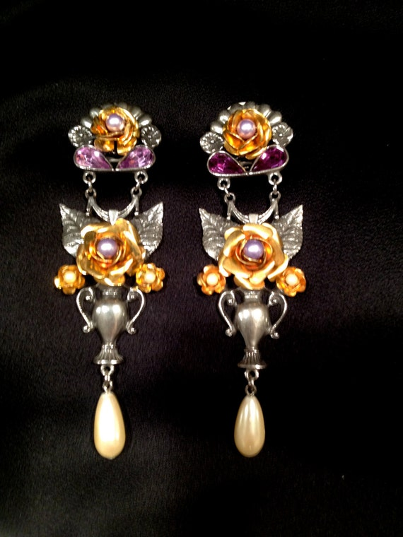 Vintage 1928 Jewelry Co. Bridal Earrings