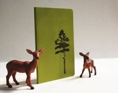 Loblolly Pine on Olive Green Pocket Size Moleskine Journal Notebook
