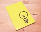 Bright Light Bulb Journal Pocket Size Moleskine Notebook