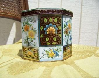 NEW SALE: 3.00 Off -- Distinctive Quaint Daher Vintage Octagonal Tin
