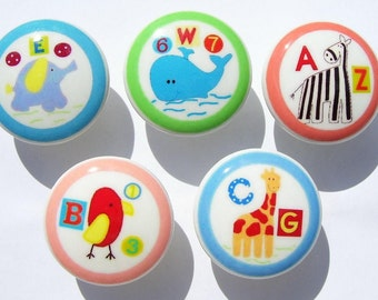 10 set  Alphabet Soup Land  kids girls boys baby mtm bedding  Dresser Drawer knobs pulls