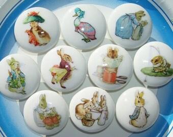 10 set PETER RABBIT Ben Bunny Beatrix Potter kids boys girls baby mtm bedding  Dresser Drawer Knob