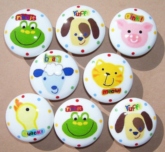 8 set CRITTER CHATTER  Animals Cat dog etc. mtm bedding  Dresser Drawer Knob