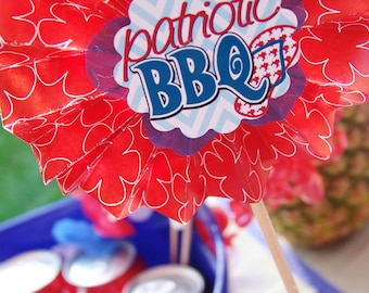 """LUAU - American Luau -DIY Printable Party (Memorial Day, 4th of July, BBQ, Labor Day) As seen on """"Celebrations At Home"""" & """"SheKnows.com"""""""