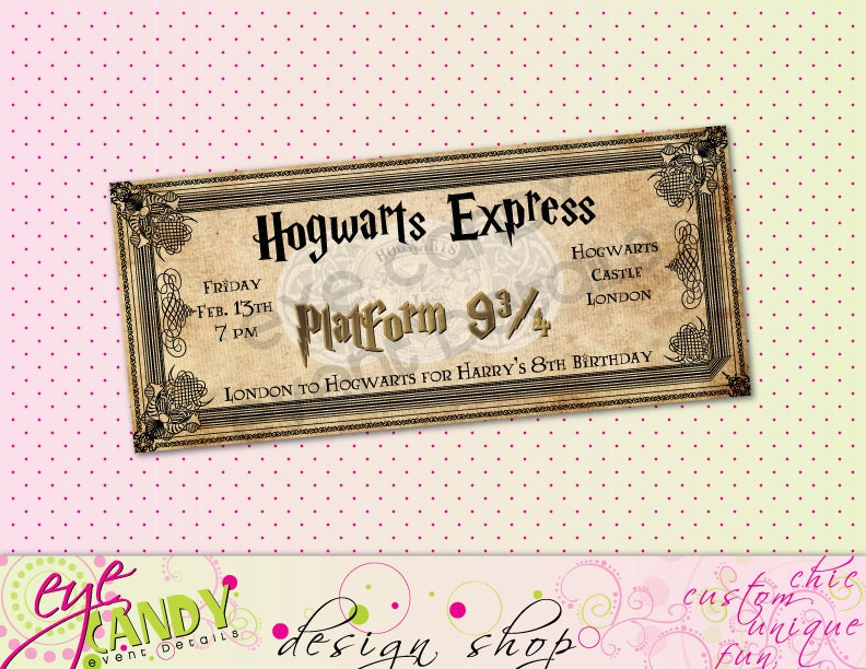 PRINTABLE Harry Potter Inspired Hogwarts Birthday Party - Birthday invitations harry potter printable