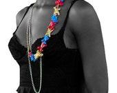 Tribal Bone Necklace / Vertebrae Necklace / Animal Bone Necklace / Wearable Art