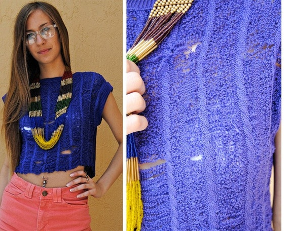 SALE SALE Shredded vintage sweater shirt XS/S