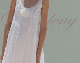 White English Embroidery  Girl Dresses/Soft cotton Sundress/summer kids dresses/gift ideas