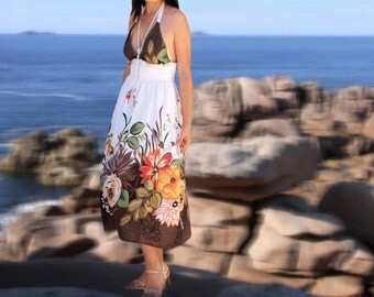 Women floral dresses/summer dresses/sun dresses/strapless/holiday dresses/tank tops/gift ideas
