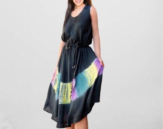 tie dye dresses/ ethnic Paisley dresses/embroidery/women dresses