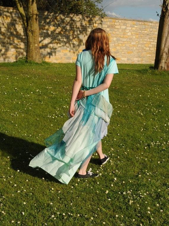 Adult Mermaid costume, Ocean Fairy dress. Sea green and blue mermaid dress. Size Medium M Womens Mermaid Costume