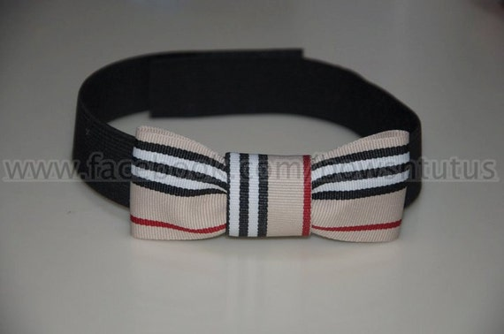 Boy's Bowtie made from Grosgrain Ribbon Free Size