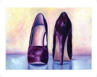 12x16 High Heel Illustration Print
